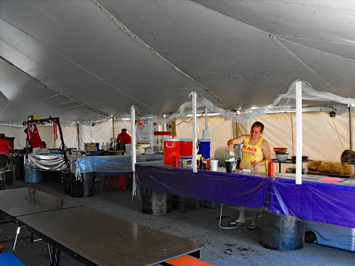 Inside The Food Court Tent.