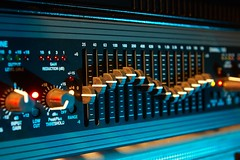 recording studio audio radio abstract amplifier background black blue board bright broadcast buttons channels color console control cyberspace digital editor electronics equaliser equalizer equipment frequency glowing graph graphic i
