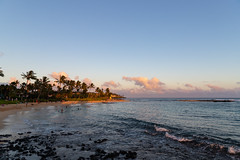 Golden hour Poipu Beach Kauai Hawaii