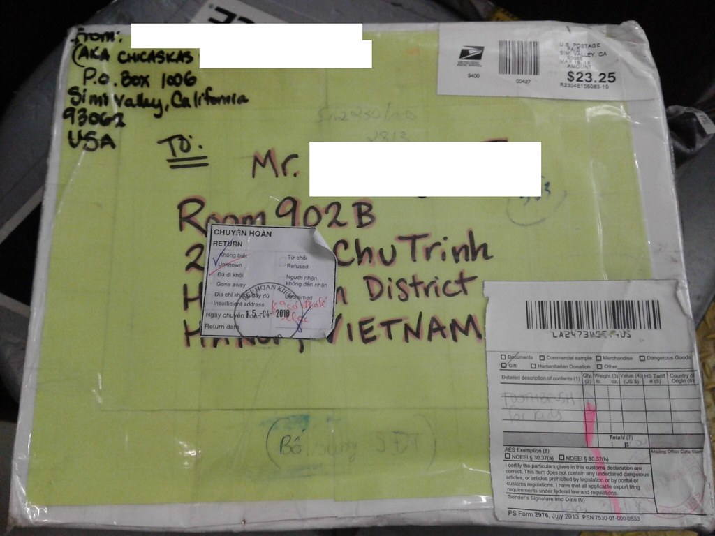 image of returned mail
