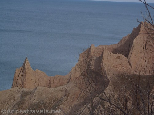 Views of the badlands from near the closure at Chimney Bluffs State Park, New York