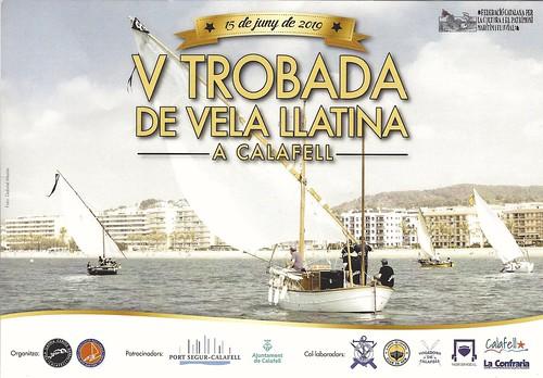 Cartell de la Trobada de vela latina de Calafell 2019