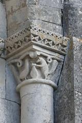 Chapiteau, église Saint Pierre, Cozes, Saintonge, Charente-Maritime, Nouvelle-Aquitaine. - Photo of Grézac