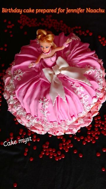 Barbie Doll Cake by Nachu Aisha