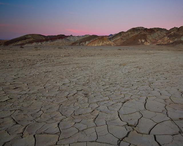 Dusk near Furnace Creek, Death Valley