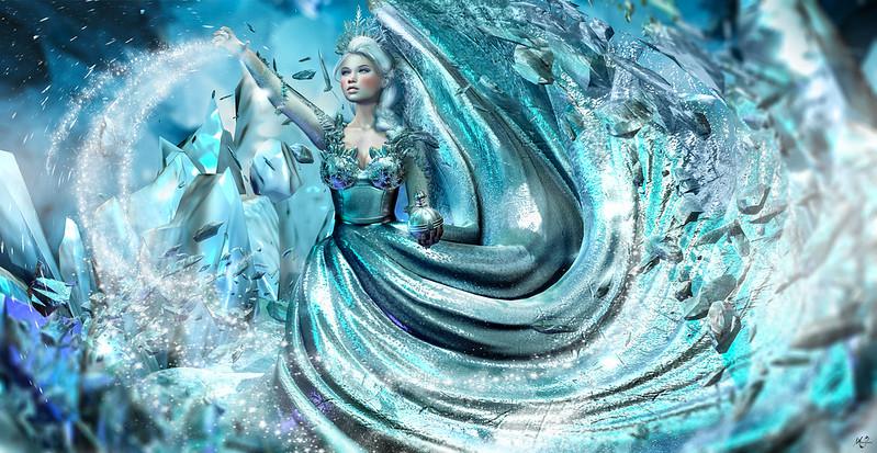My soul is spiraling in frozen fractals all around