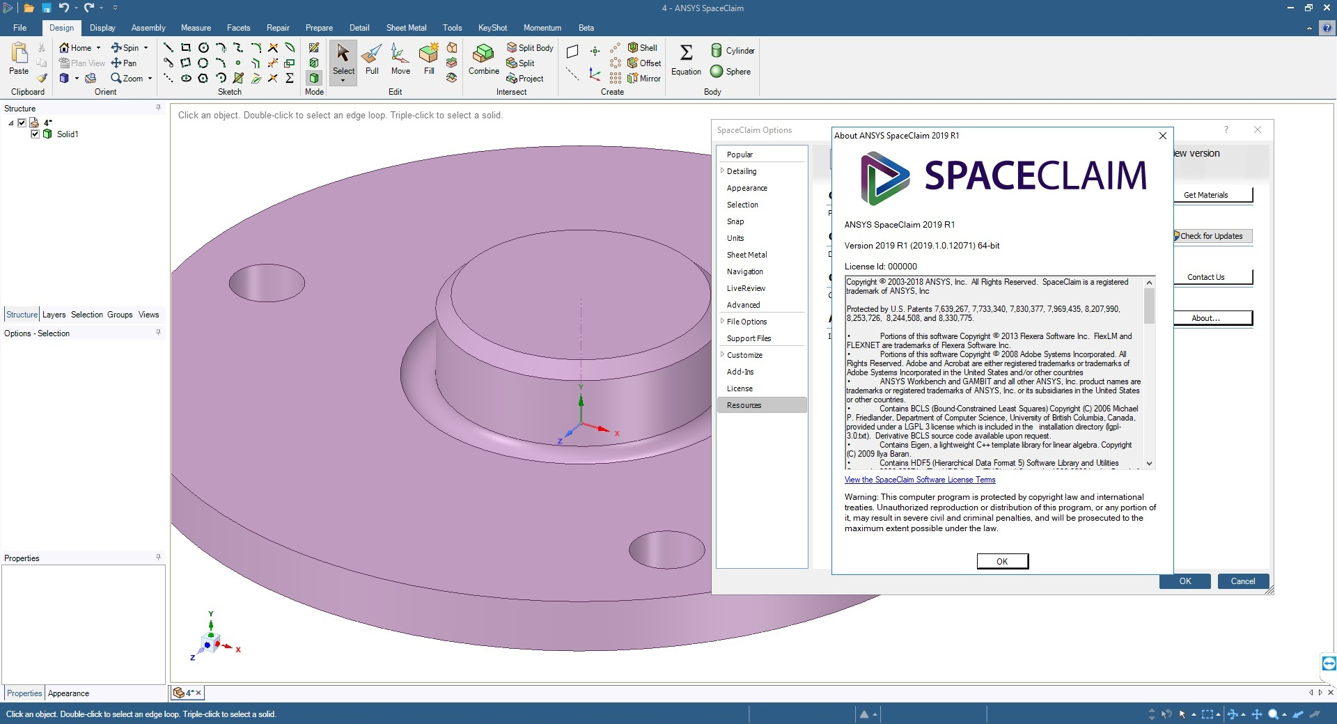 Working with ANSYS SpaceClaim 2019 R1 x64 full license