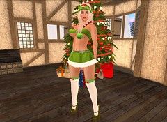 WE ARE SANTA'S ELVES (LA BELLA BOUTIQUE (LBB) SEXY ELF OUTFIT)