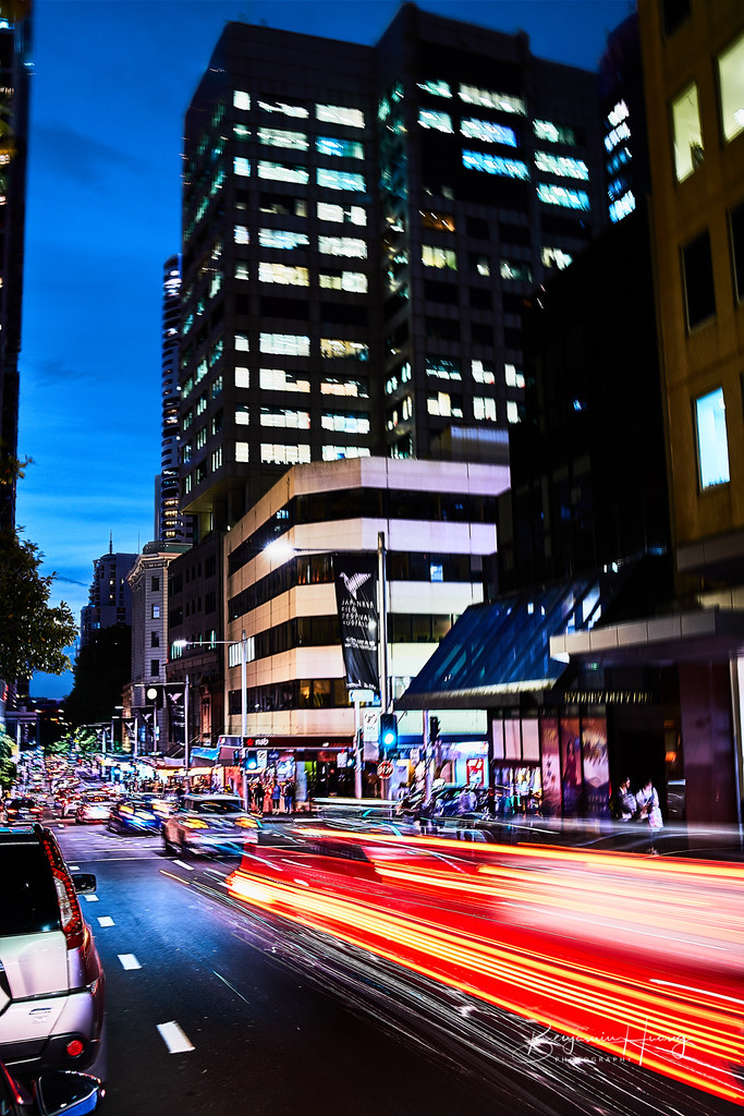 Sydney Night Traffic
