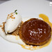 Apple tarte tatin with pear ginger ice cream