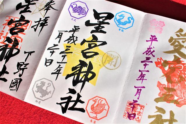下野星宮神社の開運御朱印(500円)