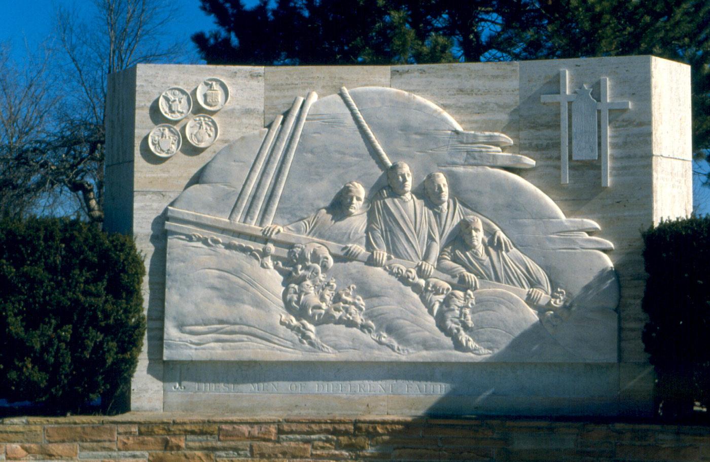 Four Chaplains Monument, Ann Arbor, Michigan by Carlton W. Angell.