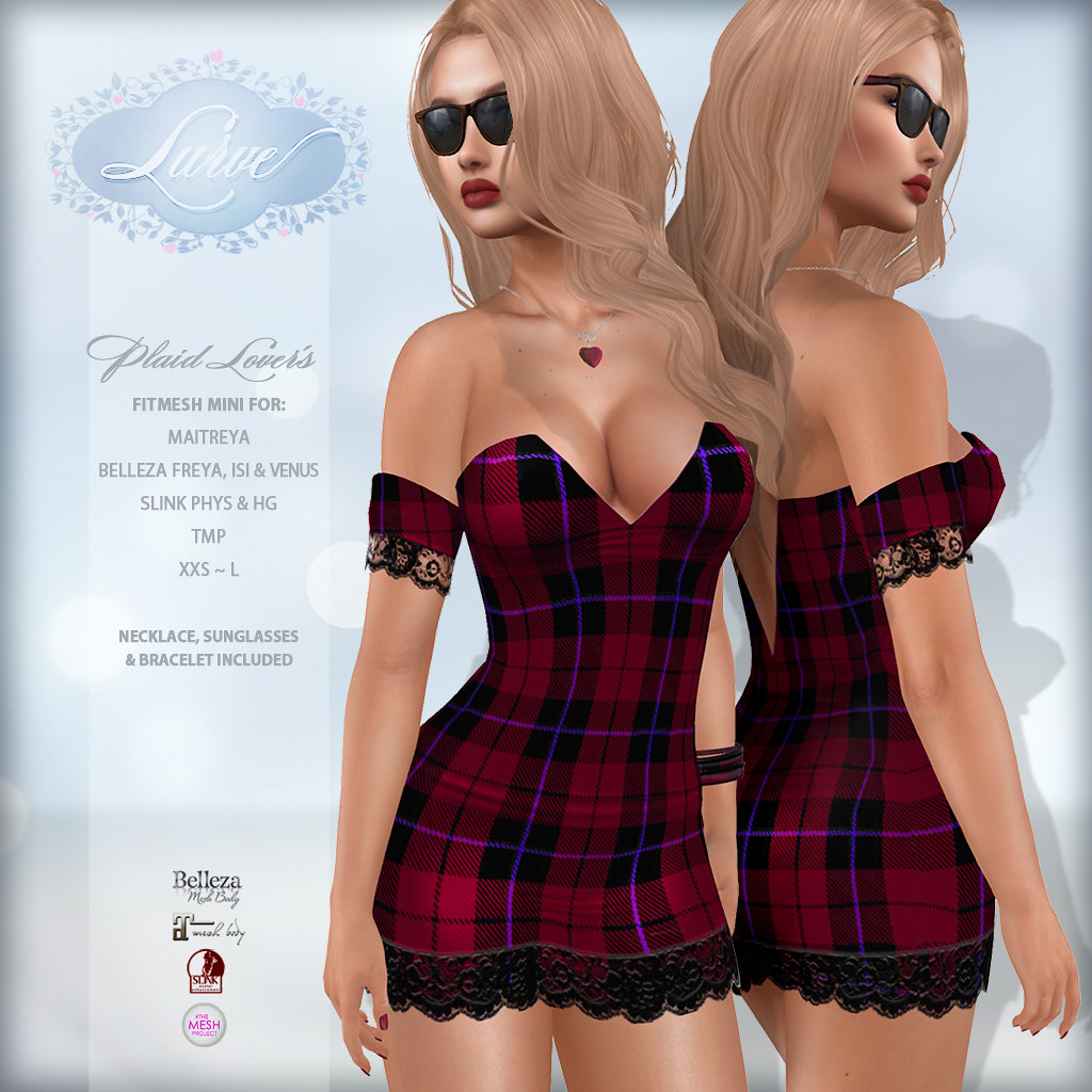 *Lurve* Plaid Lover's Mini in Red
