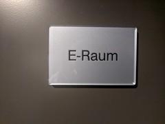 E-Raum sign, hotel, Mitte, Berlin, Germany