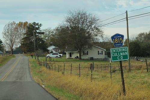 Cullman CR1815 Sign - Entering Cullman County