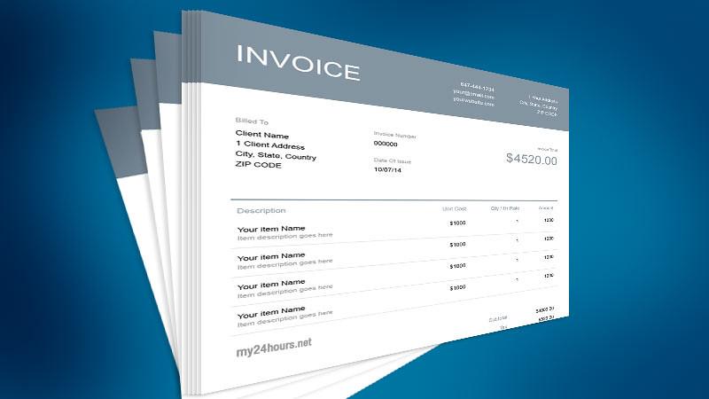 Membuat sebuah invoice harus jelas.