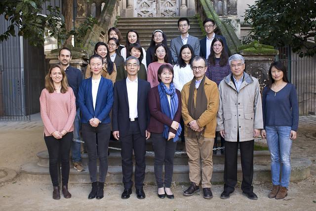 人民日报代表团访问巴塞罗那孔子学院