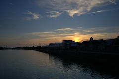 Low Sun over Preston Docks