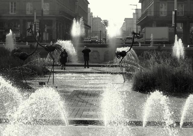 Le Havre Fountain., Canon POWERSHOT SX540 HS