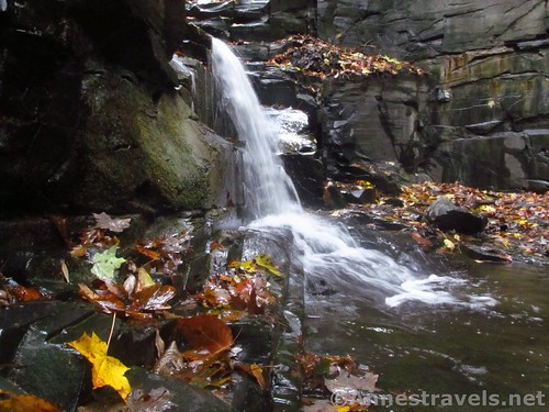 Side view of the Second Falls in Barnes Creek Gully, Onanda Park, Canandaigua, New York