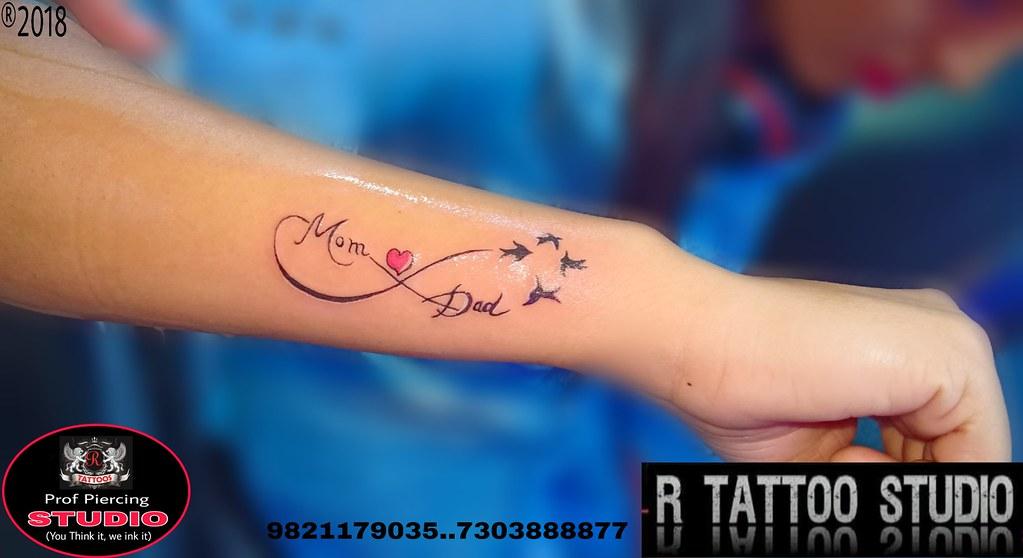 Mom Dad Tattoo #Memorial Infinity tattoo# bird tattoo #R ...
