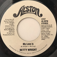 BETTY WRIGHT:MY LOVE IS(LABEL SIDE-B)