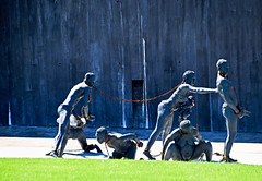 'Nkyinkyim' Installation (2018) by Kwame Akoto-Bamfo -- The National Memorial for Peace and Justice Montgomery (AL) March 2019