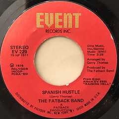 THE FATBACK BAND:SPANISH HUSTLE(LABEL SIDE-A)