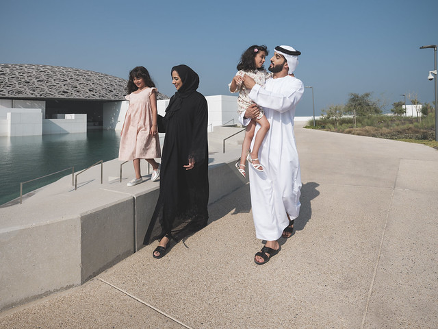 Emarati Family at Concrete Beach