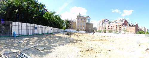 Pano of excavation for a new North St Lawrence Market, 2017 07 15 -e