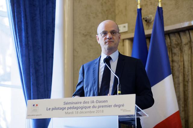 Réunion du ministre Jean-Michel Blanquer avec les directeurs académiques