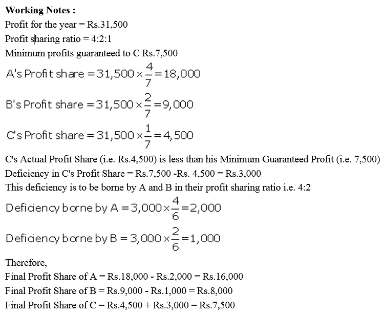 TS Grewal Accountancy Class 12 Solutions Chapter 1 Accounting for Partnership Firms - Fundamentals Q79.1
