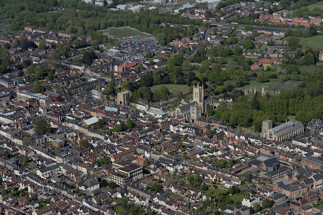 Bury St Edmunds aerial