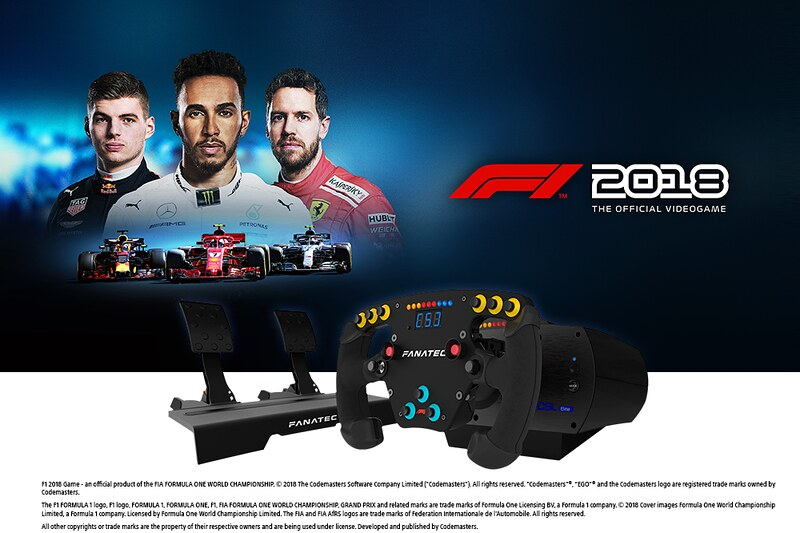 Fanatec CSL Elite F1 Esports Bundle including Codemaster F1 2018