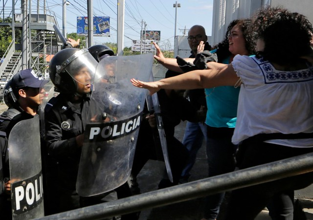 Protestos violentos se espalharam pelo país em abril de 2018 - Créditos: Inti Ocon/AFP