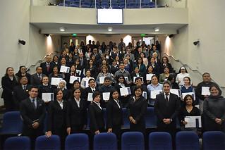 Firme en su compromiso por la educación, la Universidad San Ignacio de Loyola realizó la Clausura de su Programa de Gestión y Capacitación Continua para Directores y Coordinadores de Colegios 2018, el pasado martes 6 de octubre, en el Aula Magna ubicada en su sede de La Molina. Se contó con la asistencia de más de 120 participantes del programa.