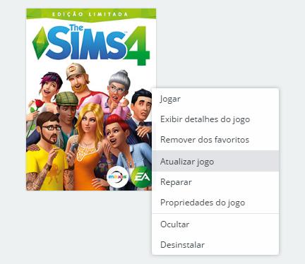 Atualização de Novembro de 2018 para The Sims 4