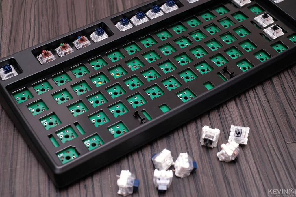 [K]不再後悔用錯軸也解放桌面-雙模凱華熱插拔80%鍵盤