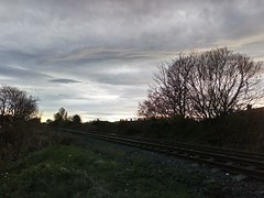 Sunset Over The Train Lines...