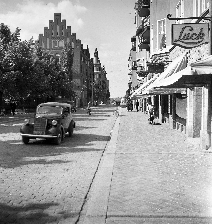Street view from Linköping, Östergötland, Sweden