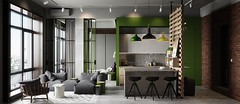 Дизайн интерьера квартиры в Познани, Польша