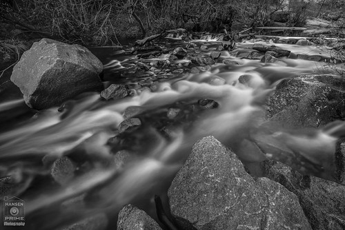 landscape water nature trees bnw blackandwhite monochrome river flowing flow calm exposure longexposure rocks contrast stream