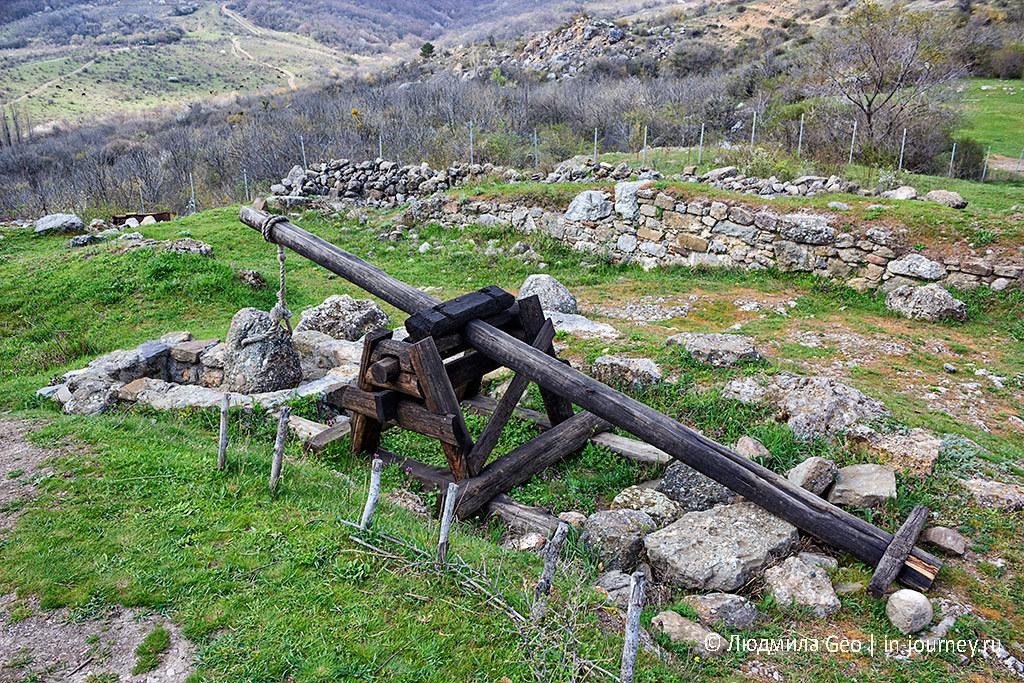 крепость Фуна в Крыму экспонаты
