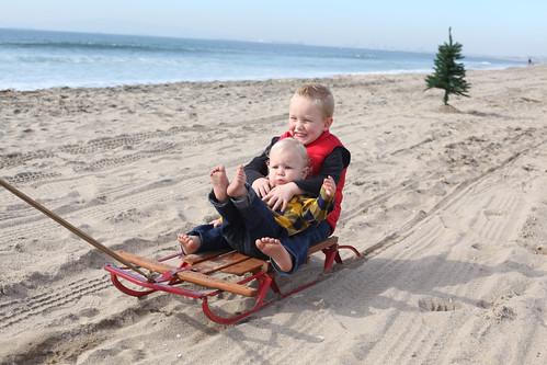 family christmas on the beach.