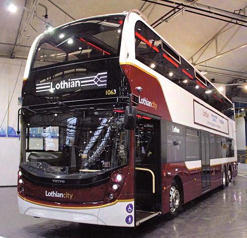 SG68 LCC 'Lothian Buses' No. 1063, 'Lothiancity'. Volvo B8L / Alexander Dennis Ltd. Enviro 400XLB on Dennis Basford's railsroadsrunways.blogspot.co.uk'