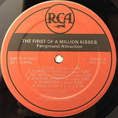 FAIRGROUND ATTRACTION:THE FIRST OF A MILLION KISSES(LABEL SIDE-B)