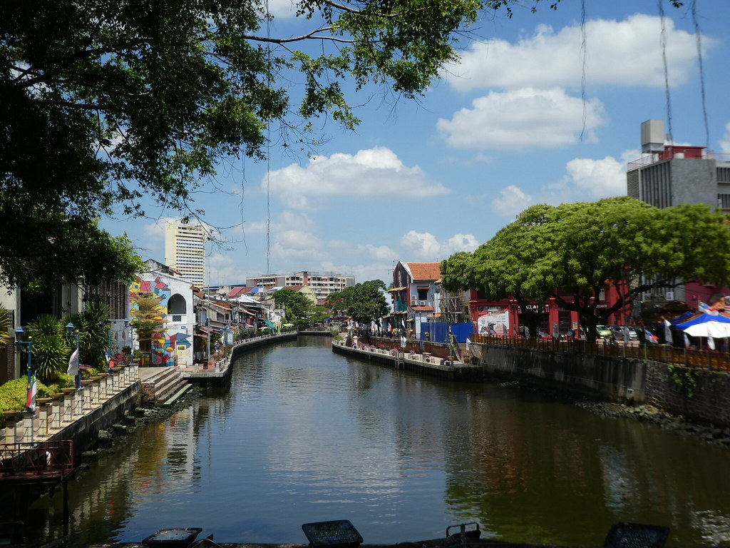 Along the riverside in Malacca