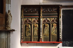 Former Wattisham rood screen: St John, St Louis?, St Paul, St James the Less? (1890s)