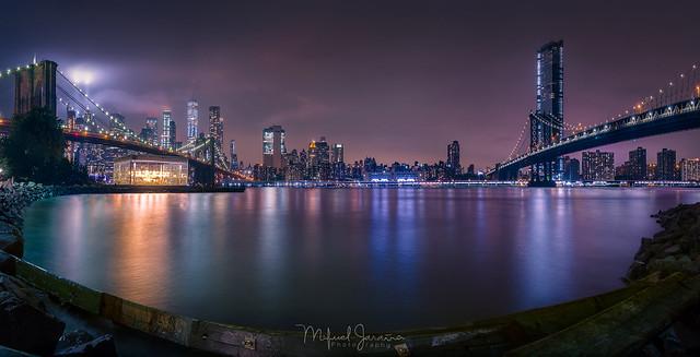 East river New York.