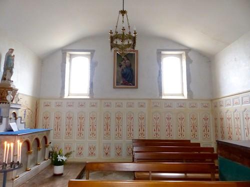 Sames, Pyrénées-Atlantiques: église de l'Assomption-de-la-Bienheureuse-Vierge-Marie, en partie du XIV°, chapelle sud.